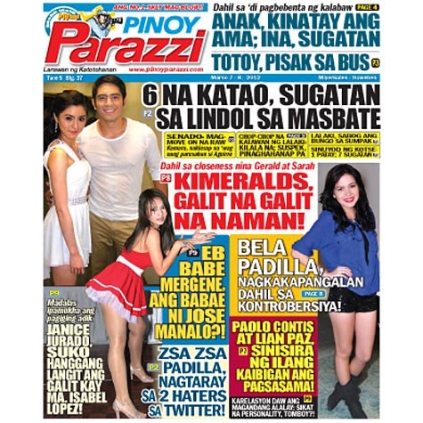 Pinoy Parazzi Vol 5 Issue 37 March 7 - 8, 2012 Out Now!