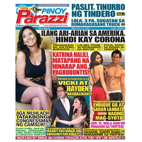 Pinoy Parazzi Vol 5 Issue 45 March 26 - 27, 2012 Out Now!